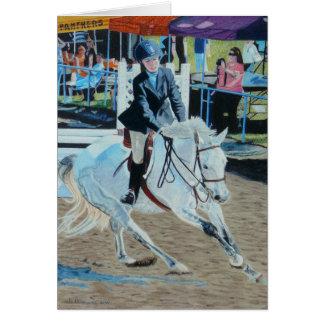 """Determination"" Horse Art Greeting Card"
