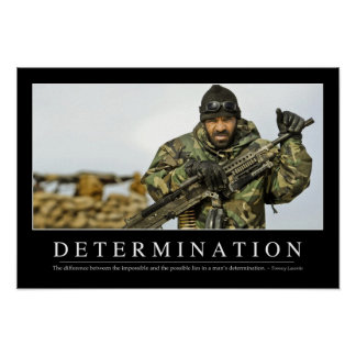 Determination: Inspirational Quote Poster