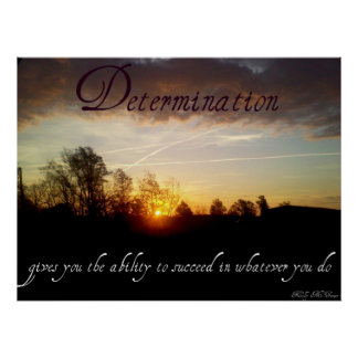 Determination Inspirational Quotes Print