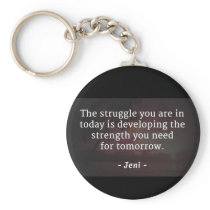 Determination keychain