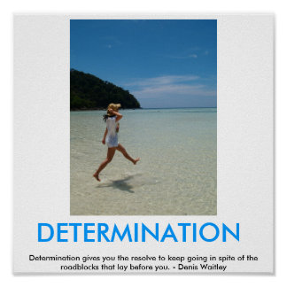 DETERMINATION motvational poster