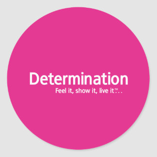 Determination - Thought Shapers™ Classic Round Sticker