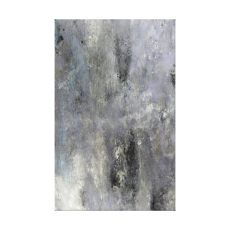 'Determine' Grey and Beige Abstract Art Canvas Print