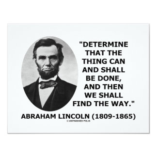 Determine The Thing Can And Shall Be Done Card