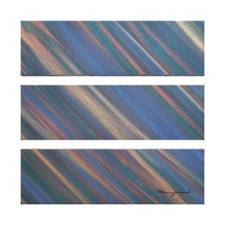 Determined Autumn Earth Green Blue Neutral Warm Canvas Print