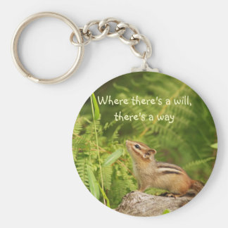Determined Baby Chipmunk Keychain