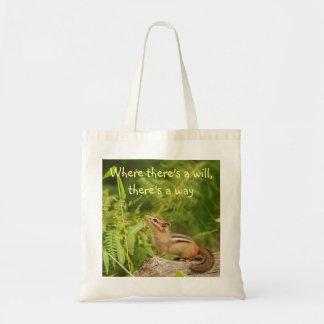 Determined Baby Chipmunk Totebag Tote Bag