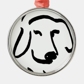 Determined Beagle Metal Ornament