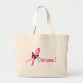 Determined Breast Cancer Awareness Canvas Bags