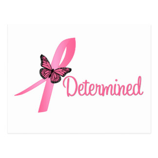 Determined Breast Cancer Awareness Post Cards