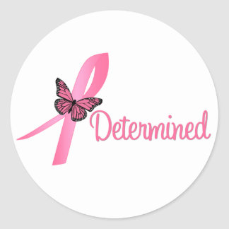 Determined Breast Cancer Awareness Stickers