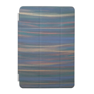 Determined Green Blue Gold Warm Neutral Earth Tone iPad Mini Cover