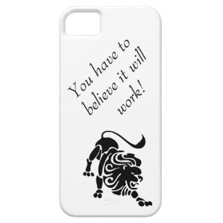 Determined lion case to help you keep focused