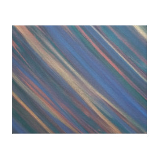 Determined Original Handpainted Abstract Neutral Canvas Print