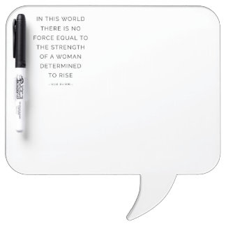 Determined Woman Inspirational Quotes Whiteboard Dry-Erase Whiteboards