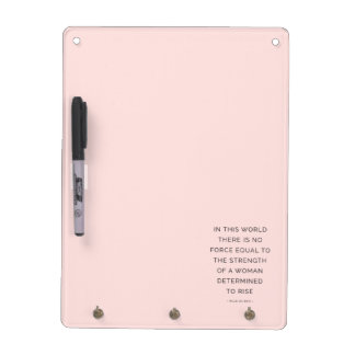 Determined Woman Inspiring Quotes Pink Black Dry Erase Board