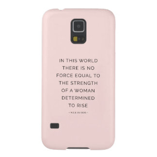 Determined Woman Inspiring Quotes Pink Black Galaxy S5 Cover