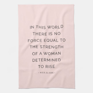 Determined Woman Inspiring Quotes Pink Black Kitchen Towel