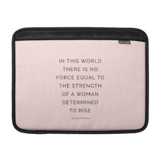Determined Woman Inspiring Quotes Pink Black MacBook Air Sleeve
