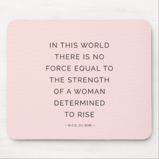 Determined Woman Inspiring Quotes Pink Black Mouse Pads