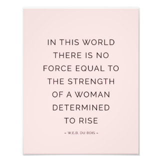 Determined Woman Inspiring Quotes Pink Black Photographic Print