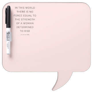 Determined Woman Inspiring Quotes Pink Whiteboards Dry Erase Board