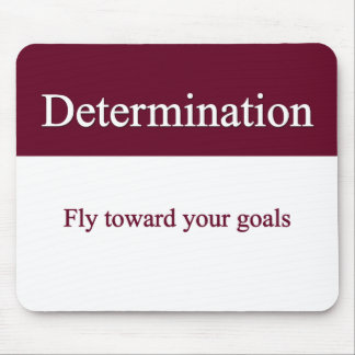 Determinedly fly towards your goals mouse pad