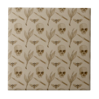 Deths Head pattern Ceramic Tile