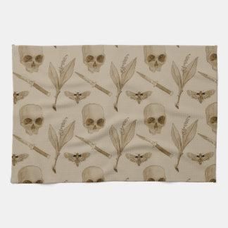 Deths Head pattern Kitchen Towel
