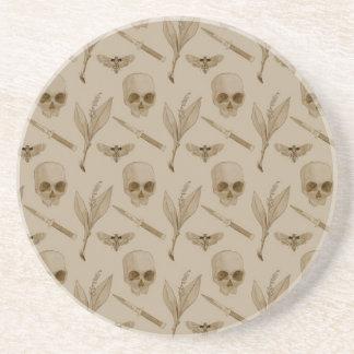 Deths Head pattern Sandstone Coaster