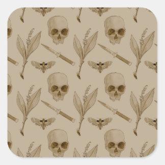 Deths Head pattern Square Sticker