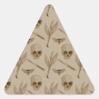 Deths Head pattern Triangle Sticker