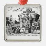 Detienen a papa Clemente VII sitiado por Charles V Adorno Navideño Cuadrado De Metal