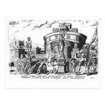Detienen a papa Clemente VII sitiado por Charles V Tarjetas Postales
