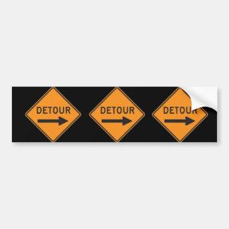 Detour Bumper Sticker 3-Pack Car Bumper Sticker