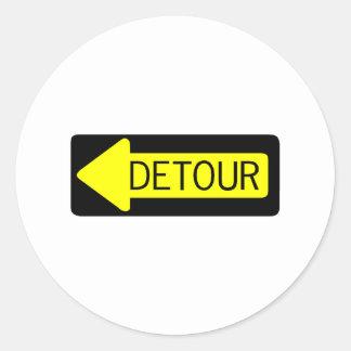 Detour Classic Round Sticker