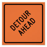 Detour Construction Highway SIgn Print