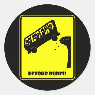 Detour DUDES-1 Classic Round Sticker