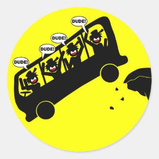 Detour DUDES-2 Classic Round Sticker
