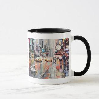 """""""Detour"""" Pelican in New York Watercolor Mug"""
