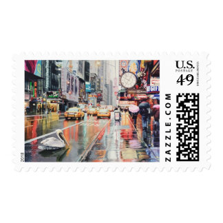 """Detour"" Pelican in New York Watercolor Postage"