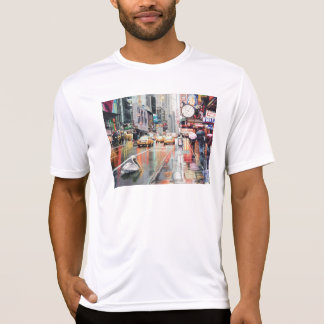 """Detour"" Pelican in New York Watercolor Tshirts"