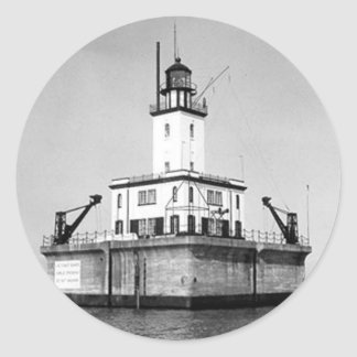 DeTour Reef Lighthouse Classic Round Sticker