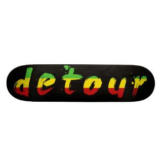 Detour Skateboards Rasta Logo