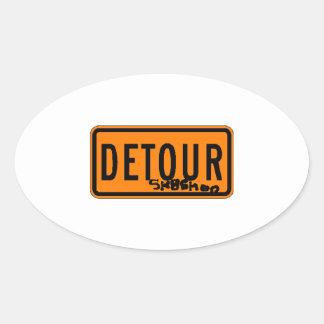 """""""Detour"""" Sticker"""