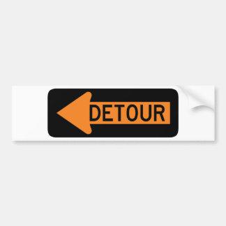 Detour Street Sign Bumper Sticker
