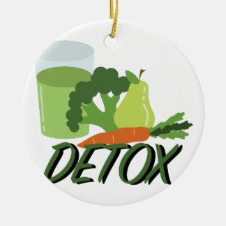 Detox Juice Ceramic Ornament