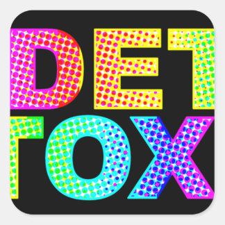 Detox Square Stickers