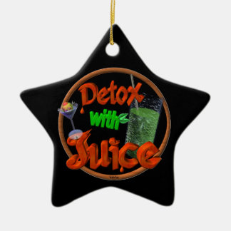 Detox with Juice on 100+ products Double-Sided Star Ceramic Christmas Ornament