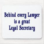 Detrás de cada abogado Mousepad Alfombrilla De Ratón
